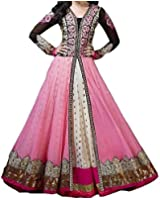 SKY GLOBAL Women's Georgette Embroidered Unstitched Salwar Suit (Dress_253_FreeSize)