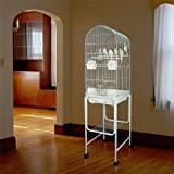 Kiko Kondo Dometop Bird Cage with Stand - 16''W x 14''D x 59.5''H - Black