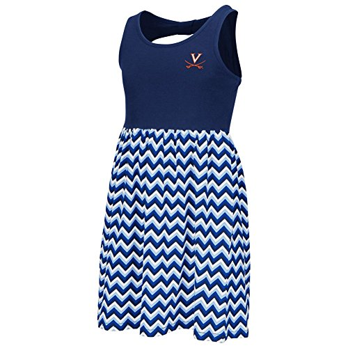 Cavalier Dress (University of Virginia Cavaliers Girls Chevron Dress (YTH (4-5)))