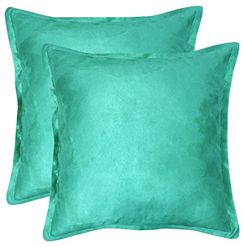 downluxe 2 Piece DL17DPSU08  Solid Faux Suede Decorative Throw Pillow With Zipper, Feather Pillow Included-Super Soft, 20'' L x 20'' W 2 Piece Faux Suede