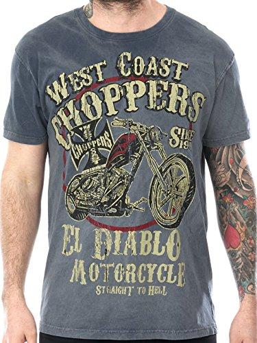 Diablo Chopper (West Coast Choppers Vintage Blue EL Diablo T-Shirt (XL, Blue))