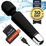 ❤️Personal Mini Wand Massager by Yarosi - Strongest Cordless Handheld Vibrating Power - Best Rated for Travel Gift - Magic Stress Away - Perfect Relief on Neck, Back, Foot, Hand Pains & Sports Injury