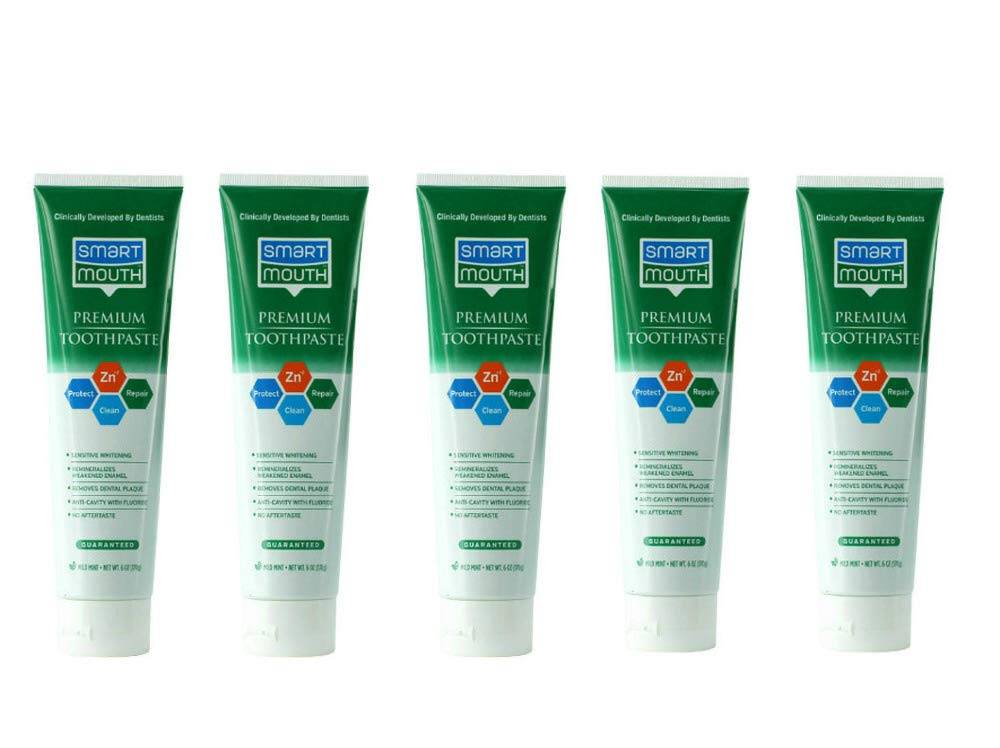 SmartMouth Premium Toothpaste for Elite Oral Health Protection, 6 oz, 5-Pack by SmartMouth