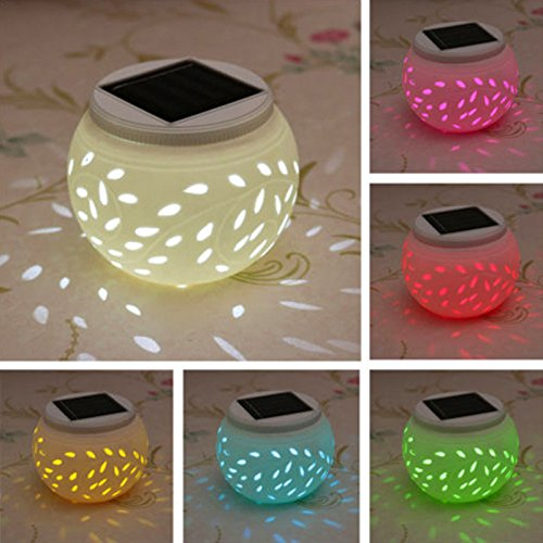 Color Changing Solar Powered Glass Ball Led Garden Lights Multiple Color Selectable For Garden Patio Party Yard Outdoor/Indoor Decorations by Foreverwen (Image #1)