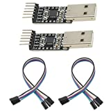 WGCD 2 PCS USB 2.0 to TTL UART CP2102 Module 6 Pin Serial Converter