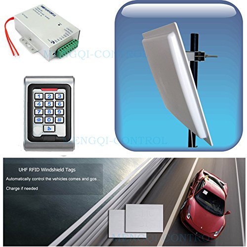 Full Car Access Control Vehicle Parking Control Bus Gate Control System UHF RFID Long Distance Reader+Controller+Windshield Tags+parking application 5-7 meters read range ()