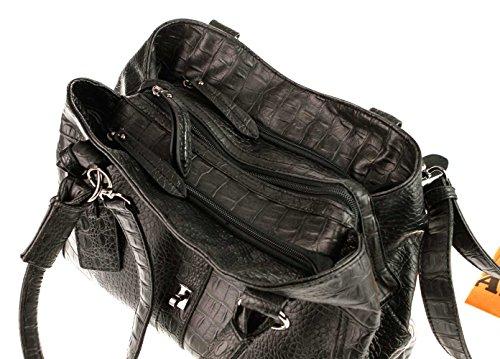 Cruzados Valleverde schwarz Bolso Nero Mujer Para q5rBX4w5