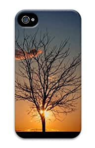 iPhone 4S Cases & Covers - Dark tree cloud sunset 3D Design Custom PC Hard Case Cover Compatible with iPhone 4S and iPhone 4