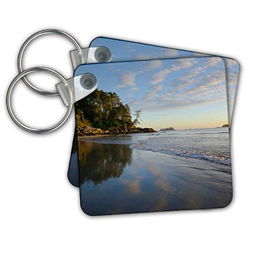 Tofino Chain (Danita Delimont - Canada - Canada, Vancouver Island. Surf and sand at Tonquin Beach - Key Chains - set of 2 Key Chains)
