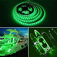 Obcursco 16.4' 300 LEDs Boat Light Strip, Marine LED Light Pontoon Interior Light Boat Deck Light for Night Fi