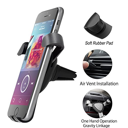 Car Phone Mount single hand pick and place the phone air ven