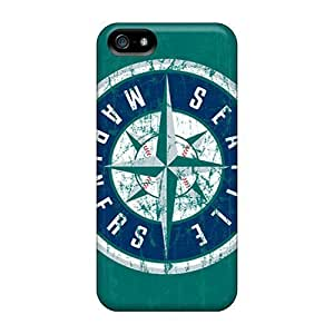 Rosesea Custom Personalized Cases Covers For Iphone 5 5s Strong Protect Cases - Seattle Mariners Design