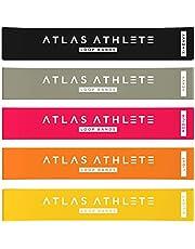 Atlas Athlete Träningsband Gummiband - Motståndsband + Övningsmanual + Förvaringspåse - Idealt Set för Hemmaträning Gym Ben Rumpa Höfter Yoga Pilates CrossFit