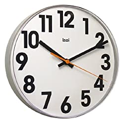 Bai Lucite Wall Clock, Big No White