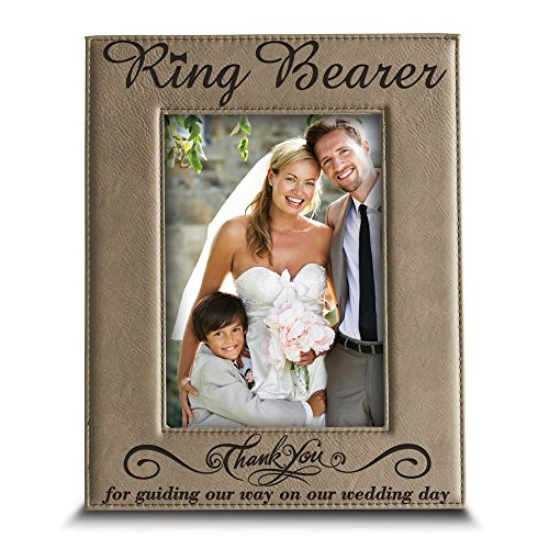 (BELLA BUSTA- Thank You for Standing Beside me Today and Always - Engraved Leather Picture Frame (4