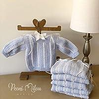 Chambrita azul de bebé/regalo recién nacido/ropita de bebé/babyshower/bautizo/niño/niña