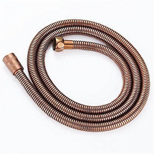 Weirun Bathroom 59-Inch Stainless Steel Interlock Handheld Shower Hose, Rose Gold or Antique Copper by Weirun