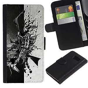 Stuss Case / Funda Carcasa PU de Cuero - Negro abstracto en blanco y - Sony Xperia Z3 Compact