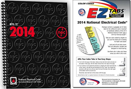NFPA 70: National Electrical Code (NEC) Spiralbound and EZ Tabs (Color Coded) Set, 2014 Edition by NFPA