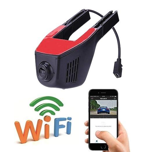 Coche oculto DVR cámara 1080P visión nocturna Dash Cam App Car Dash Cams DVR construido en G-sensor de movimiento de detección de movimientos grabador: ...