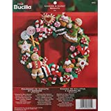 Bucilla Felt Applique Wreath Kit, 15-Inch Round, 86264 Cookies & Candy