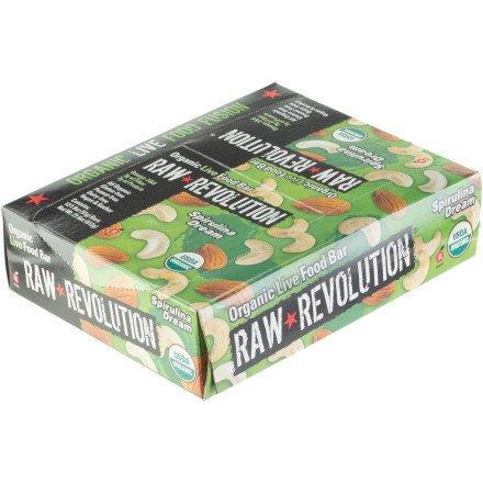 (Raw Revolution Organic Food Bar - 12 Bars Spirulina Dream, One Size)