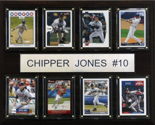 - MLB Chipper Jones Atlanta Braves 8 Card Plaque