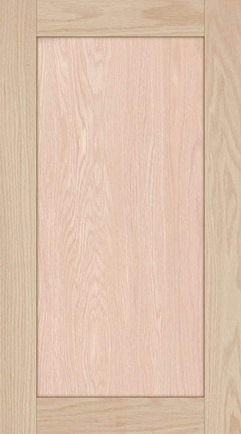 23H x 15W Unfinished Oak Square Flat Panel Cabinet Door by Kendor