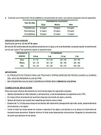 Algicida - Antialgas, Clarificador y Herbicida para lagos, estanques, fuentes, acuarios y peceras ornamentales. Crystalpond Botella 1 Lt: Amazon.es: Jardín