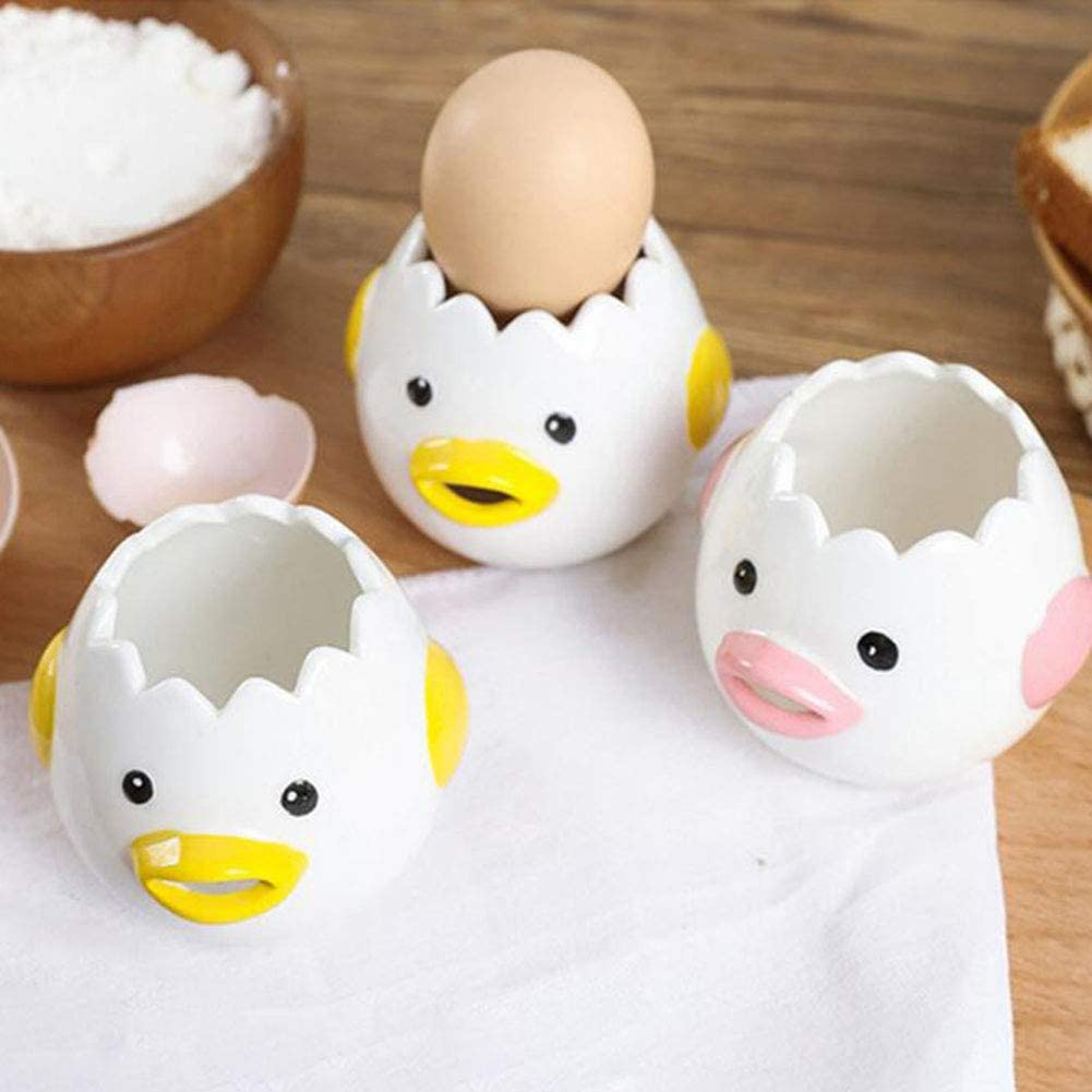 Kitchen Egg White Separator Yolk Dividers Ceramic Cartoon Chicken Cute Kitchen