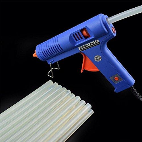 TOOGOO High Viscosity 20pcs 7 x 100mm Non-Toxic EVA Clear Hot Melt Glue Sticks for Hot-Glue Gun Glue Craft Album DIY Adhesive Repair Tools, Transparent