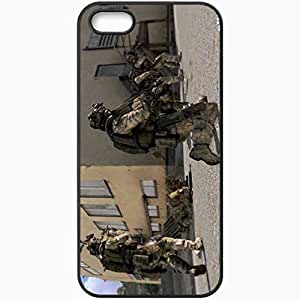 Personalized iPhone 5 5S Cell phone Case/Cover Skin Arma 3 Soldiers Machine Building Ladder Black