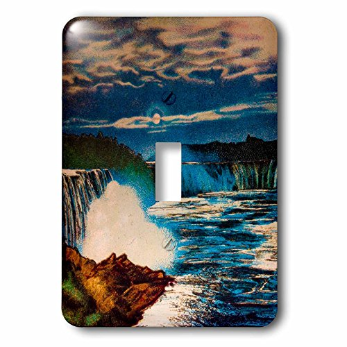 Scenes from the Past Magic Lantern - Vintage Hand Tinted Magic Lantern Slide Niagara Falls Canadian Side - Light Switch Covers - single toggle switch - Niagara Canada Outlets One