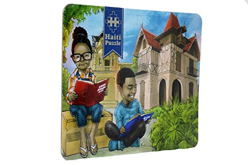 Haiti Puzzle/Civism collection - The importance of reading/L'importance de la lecture/Gingerbread house - Haiti/Excellent Gift -