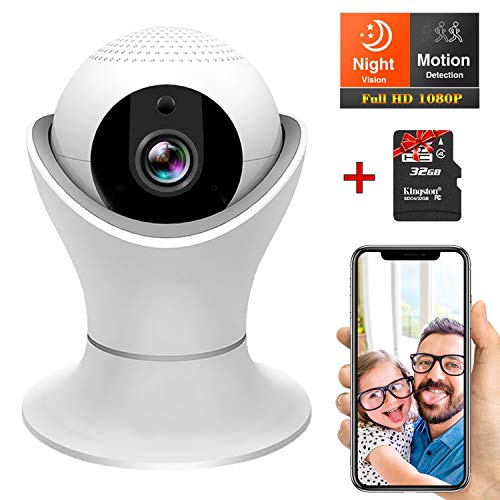 Wireless 1080P Security Camera, Wifi Home Surveillance IP Camera for Baby/Elder/ Pet/Nanny Monitor – Pan/Tilt, Two-Way Audio, Night Vision,Motion Detection-Inclued 32G TF Card Review