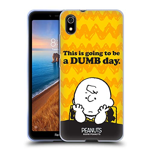 Official Peanuts Dumb Day Charlie Brown Soft Gel Case Compatible for Xiaomi Redmi 7A (2019) (Best Dumb Phone 2019)