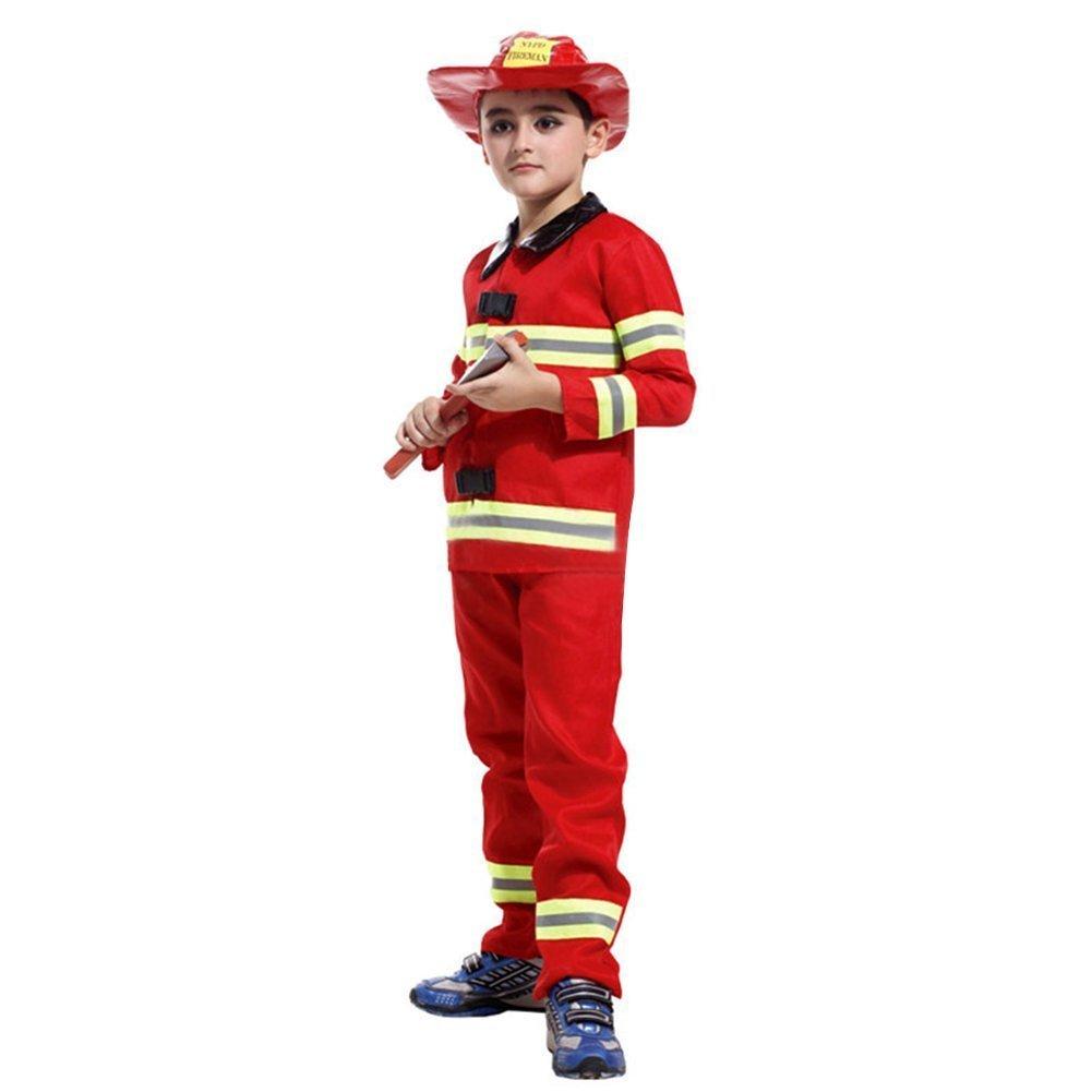 L - Carnaval Traje De The Bombero Sam Niños - 7-8 años - 120 ...