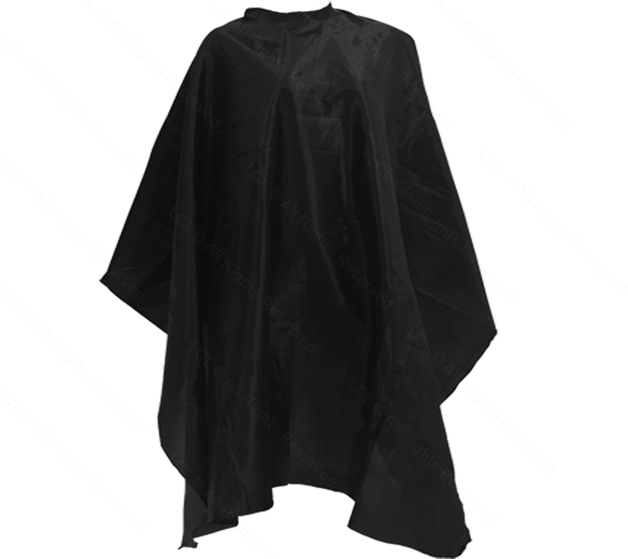 American Terry Mills Professional Hair Salon Nylon Barber Cape with Snap Closure Capes, Black, 20 Piece