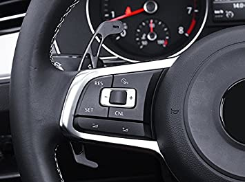 HIGH FLYING Aluminum Alloy Steering Wheel Racingline DSG Upgrade DSG Paddle shifters Extensions Gear Extensions 2pcs For Mk7 R GTI GTD GTE Piano 2014-2019 Car Accessory VWG7 Silver