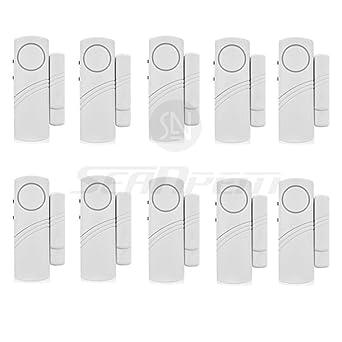 Inalámbrico Sistema de alarma de seguridad para el hogar DIY Kit - antirrobo Sistemas de alarma magnético Sensor - Tutor pantalla - ventana cristal ...