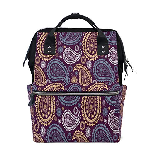 Diaper Bags Paisley Pattern Fashion Mummy Backpack Multi Functions Large Capacity Nappy Bag Nursing Bag for Baby Care for - Paisley Backpack Diaper Bag