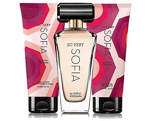 Avon So Very Sofia Eau de Parfum Spray 1.7 oz, Body Lotion 6.7 oz, Shower Gel 6.7 oz, by Sofia Vergara, 3 piece Gift Set
