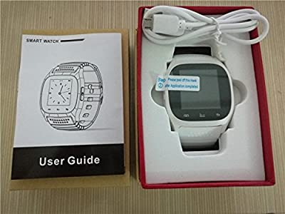 Ace M26 Bluetooth Smart Watch wristwatch smartwatch With LED Alitmeter Music Player Pedometer For Apple IOS Android Smart Phone white