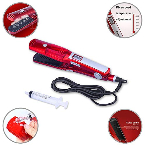 ZYC Hair Care & Styling Tools steam Hair Straightener Dry & Wet straightening Irons Plate wafers Hair Flat Iron