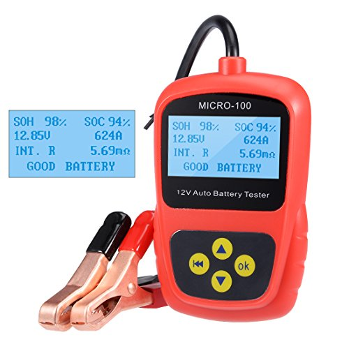 uxcell Digital 12v Car Battery Tester Checker Analyzer for Flooded AGM Gel Battery Load Cranking Alternator Tester