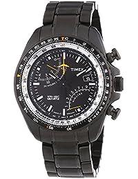 Timex Men's Quartz Watch Aviator Fly-Back Chrono T2P103 with Metal Strap
