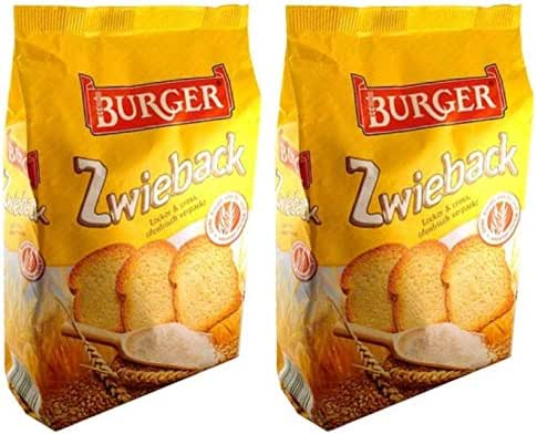 Burger Zwieback Rusk Bread From Germany Pack of 2