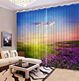 Sproud 3D Printing Curtains Lifelike Room Decorations Blackout Cortians Beautiful Full Light Shading Bedroom Curtain 240Dropx380Wide(Cm) 2 pieces