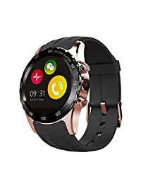 LENCISE Smartwatch Waterproof with Magnetic Wireless Support SIM Card NFC Charging IPS Round Touch Gesture Control Wrist Watch Heart Rate Monitor