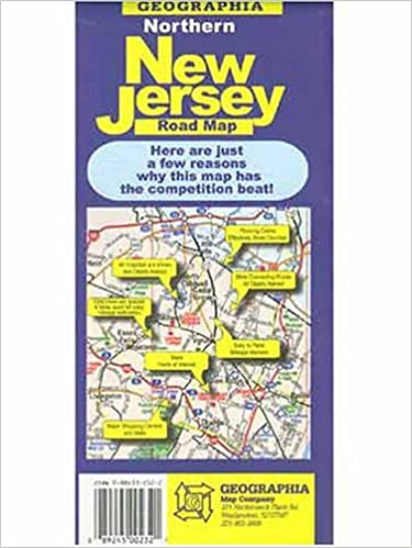 New Jersey On Map Of Usa.Northern New Jersey Road Map Usa City Maps Geographia